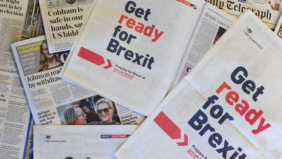 Adverts in national newspapers