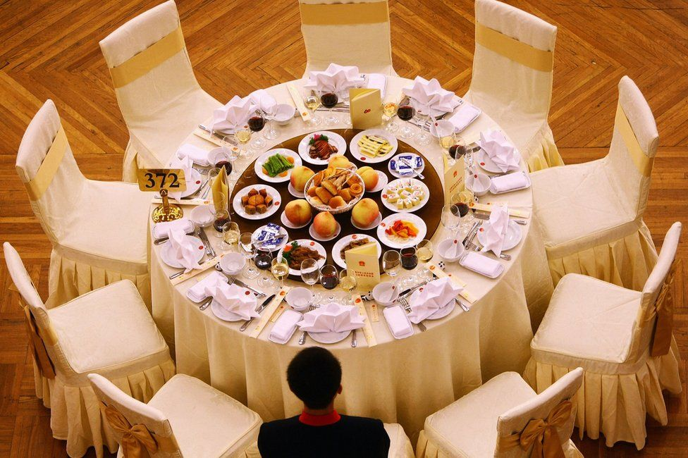 A banquet is held marking the 60th anniversary of the founding of the People's Republic of China on 30 September 2009 at the Great Hall of the People in Beijing, China.