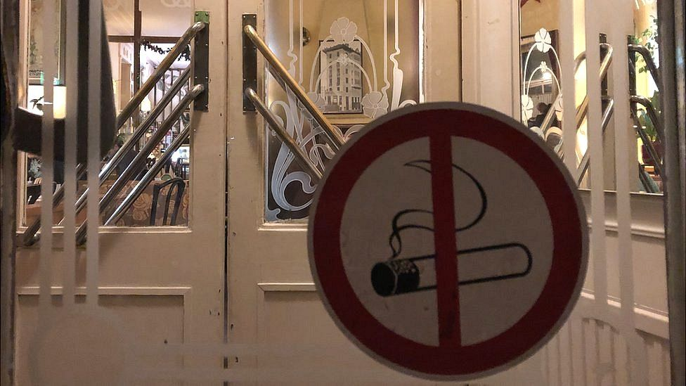 No smoking sign at Cafe Rüdigerhof