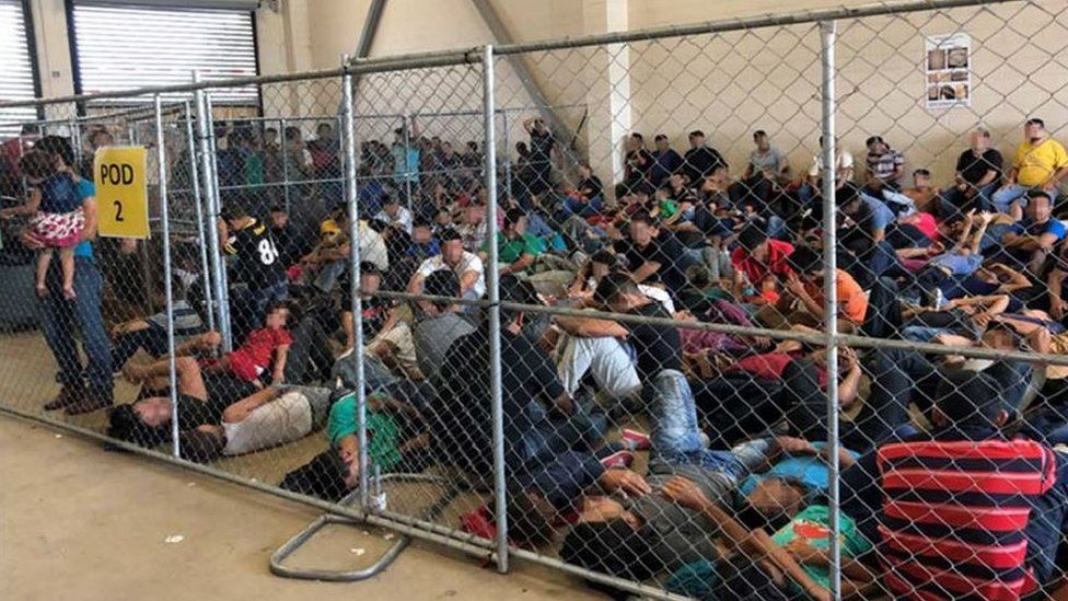 Overcrowding at a border facility in McAllen, Texas