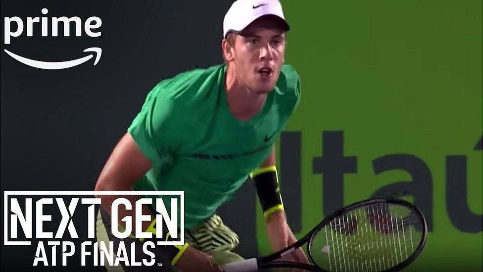 Amazon advertisement for its coverage of the ATP NextGen finals