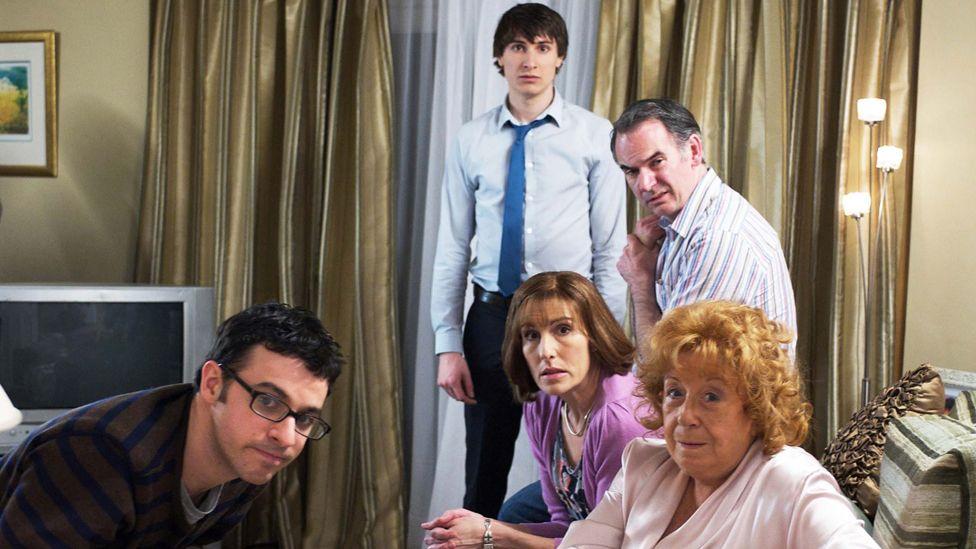 The Goodman family and grandma
