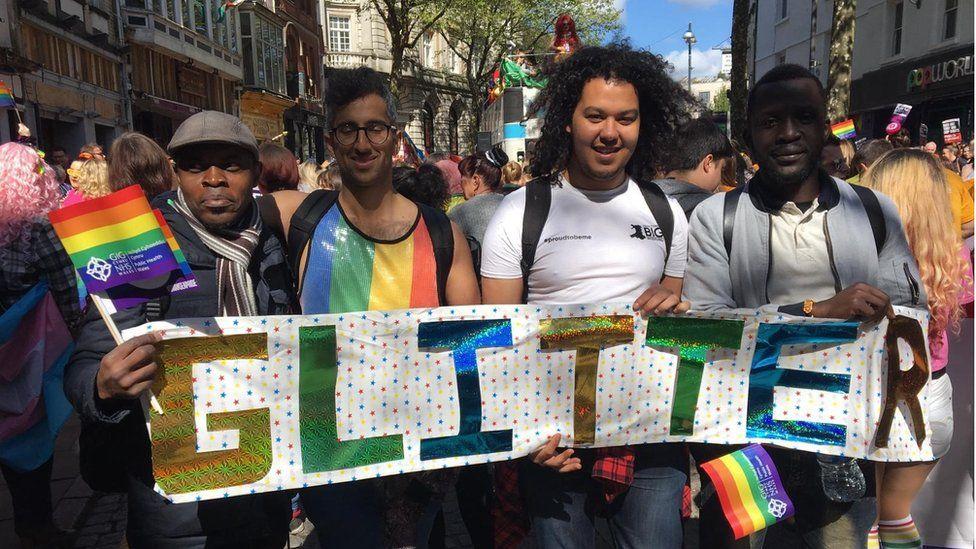Abderrahim El Habachi at a Pride Event