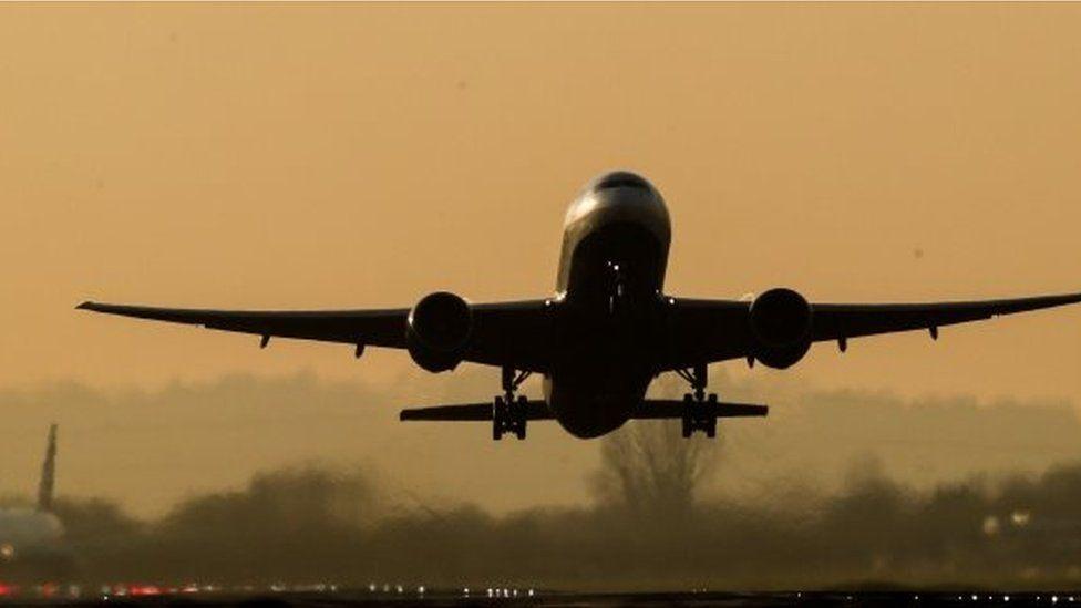BA plane taking off from Heathrow 6 Jan