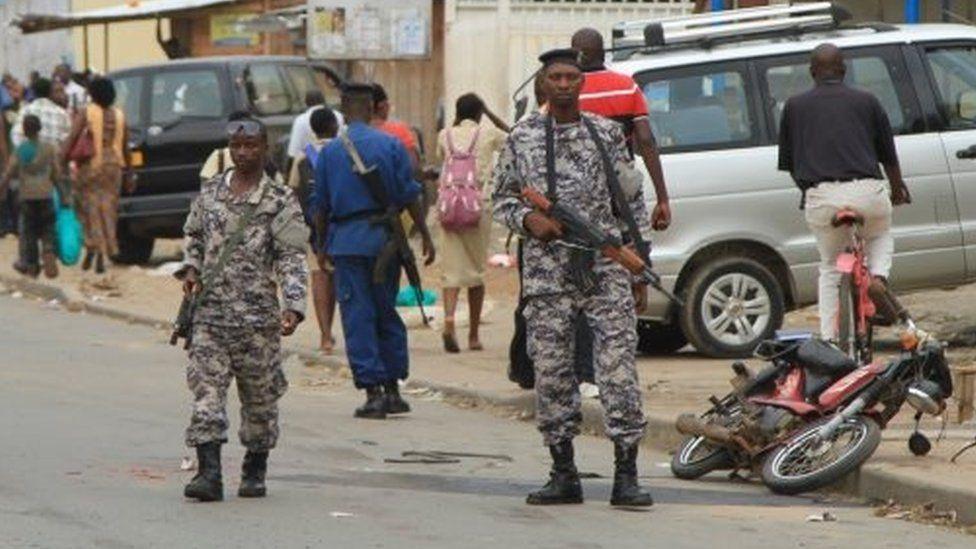 Soldiers patrol in Bujumbura. Photo: 3 February 2016