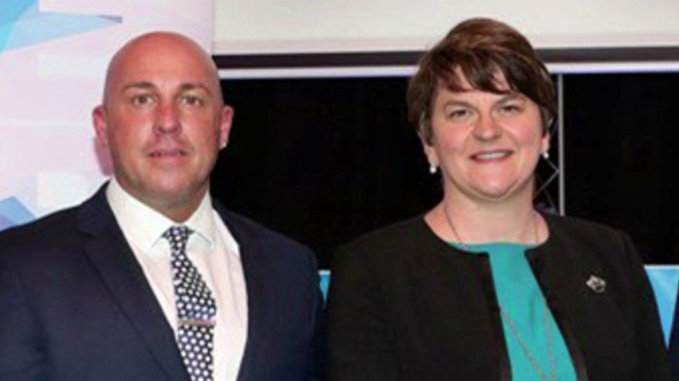 Dee Stitt and Arlene Foster