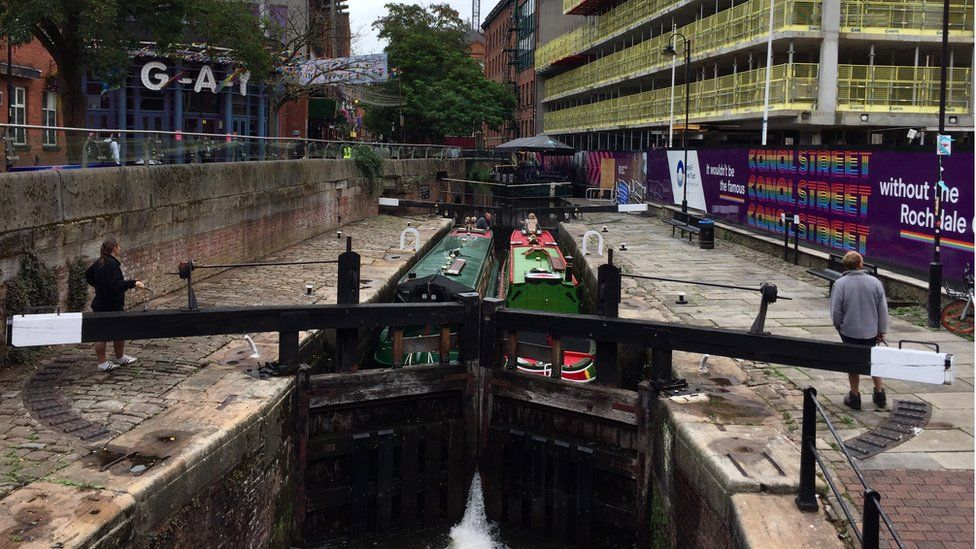 The Rochdale Canal in central Manchester