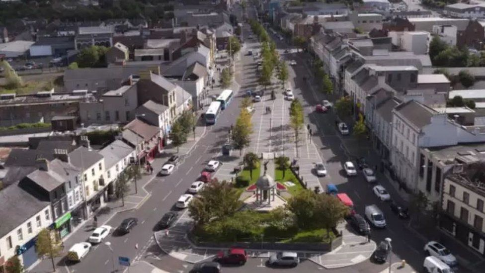 Ariel view of Lurgan town centre