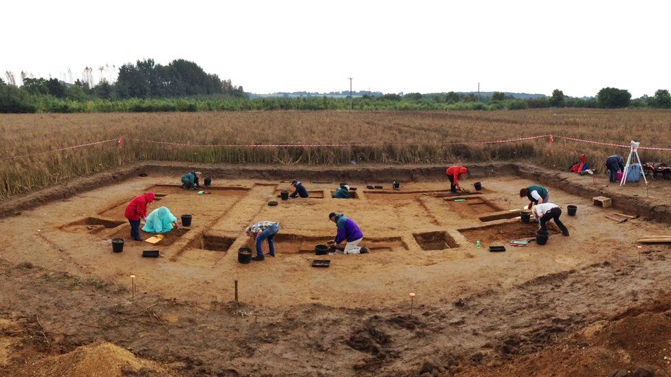 Archaeological excavations of the 'House of Wessex' being undertaken