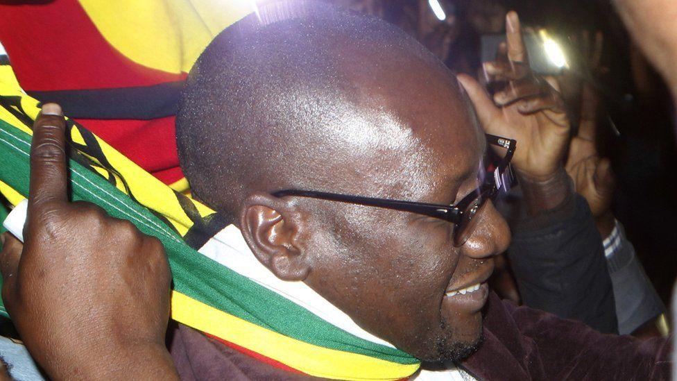 Pastor Evan Mawarire leaves court on 13 July 2016