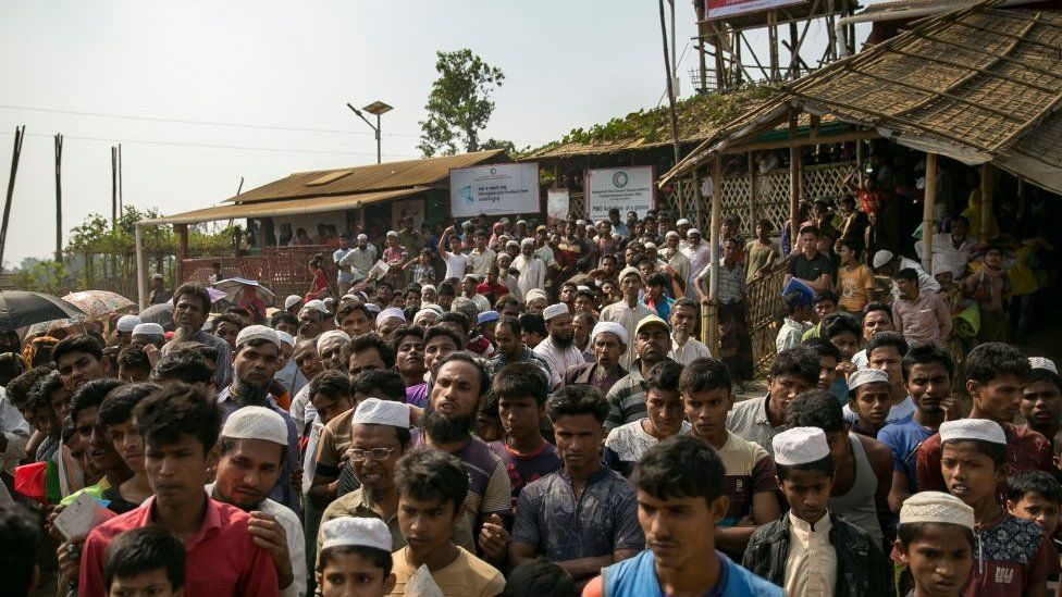 Rohingya refugees in Cox's Bazaar camp