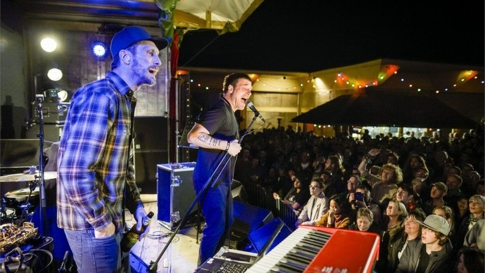 Sleaford Mods at Dismaland