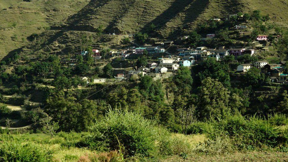 Kot village in Uttarakhand state