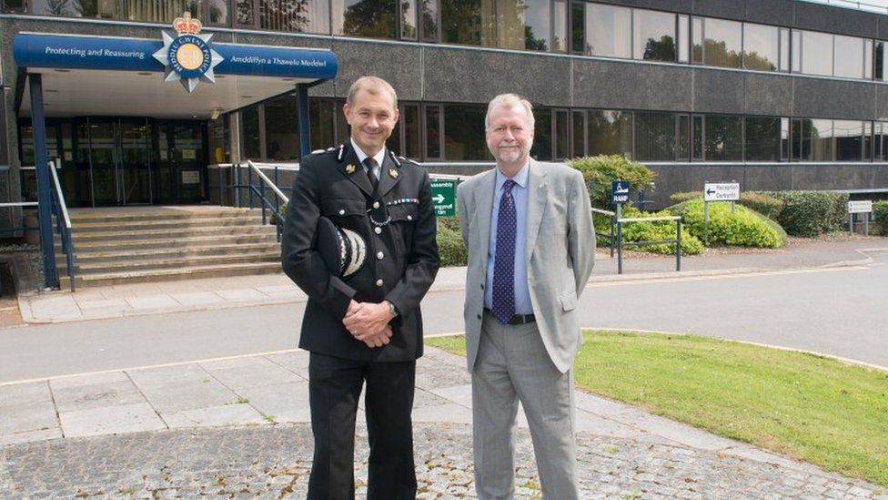 Chief Constable of Gwent Police, Jeff Farrar, and Gwent PCC Jeff Cuthbert