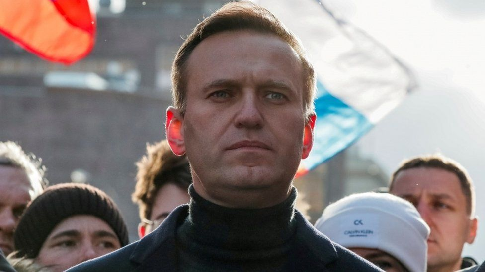 Alexei Navalny in Moscow in February 2020