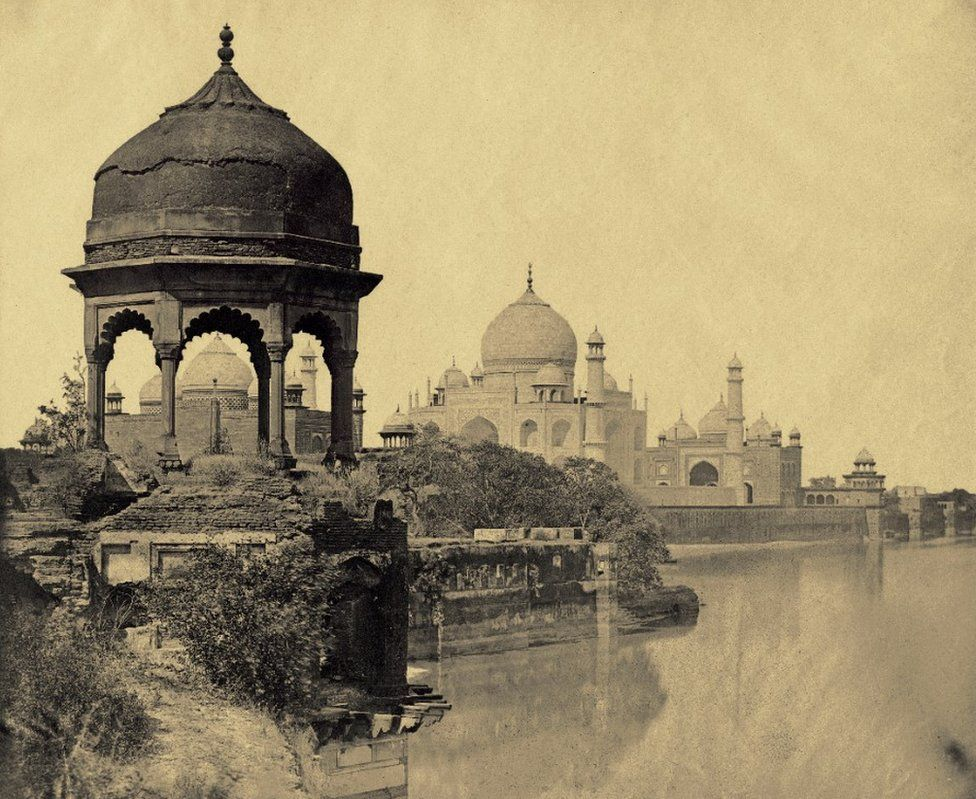 A view of the Taj Mahal from the Jumna, Agra