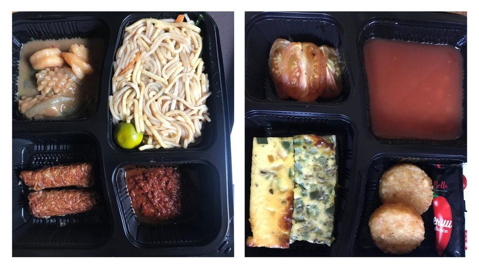 Food received in quarantine in Singapore