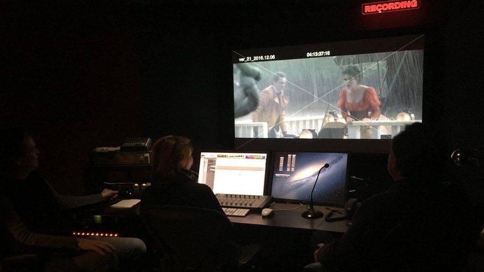 Recording studio of movie Matilda