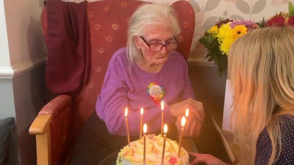 Kathleen presented with birthday cake