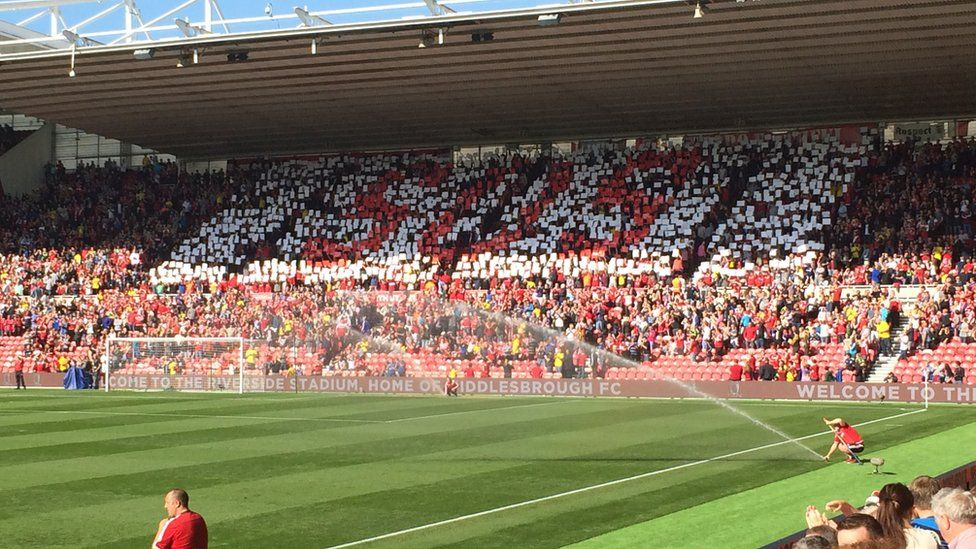 Save our Steel support at the Middlesbrough match