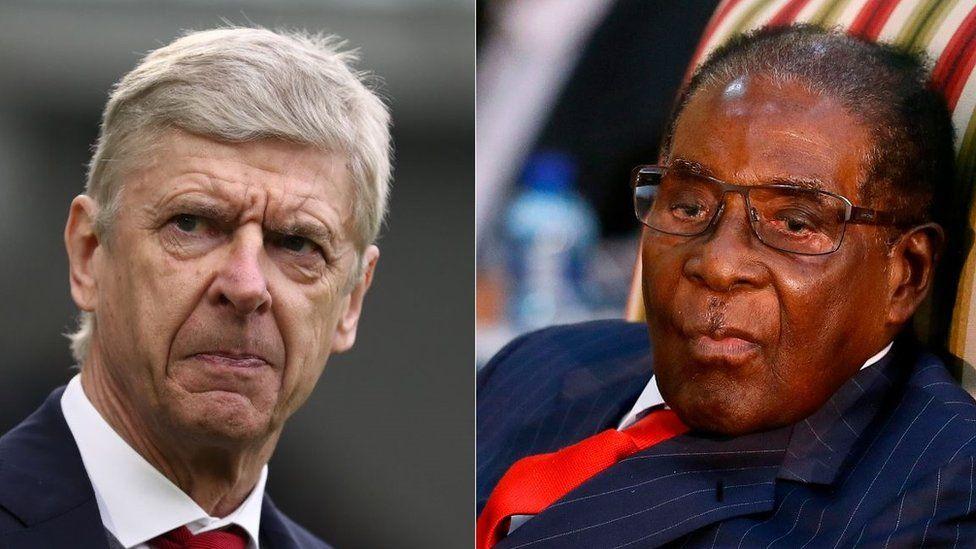 Arsene Wenger and Robert Mugabe