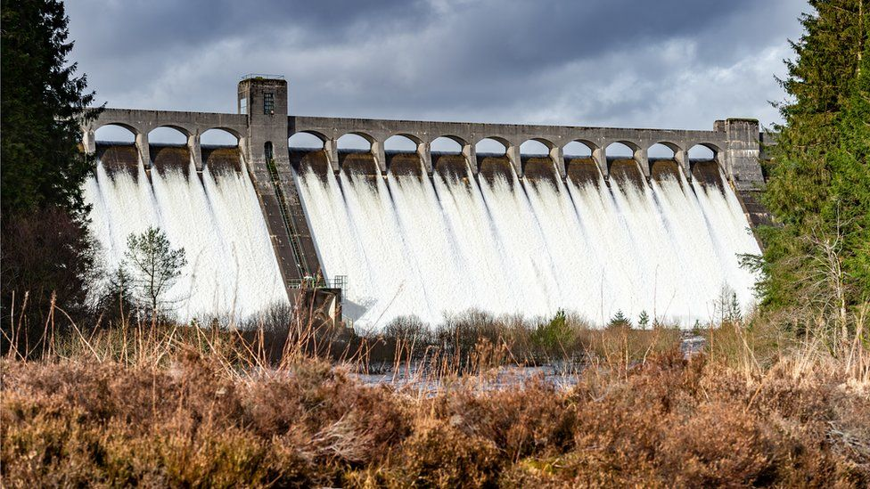 Dam was built as part of a hydro electric generating scheme in Dumfries and Galloway, south west Scotland.