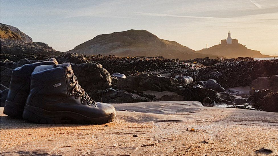 Best foot forward - On a hiking expedition, this stunning scene at the Mumbles was captured by Ashley Williams