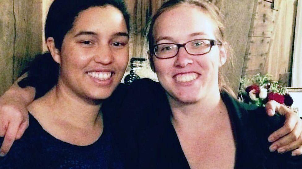 Emily Guhl and Emily Vana (right)