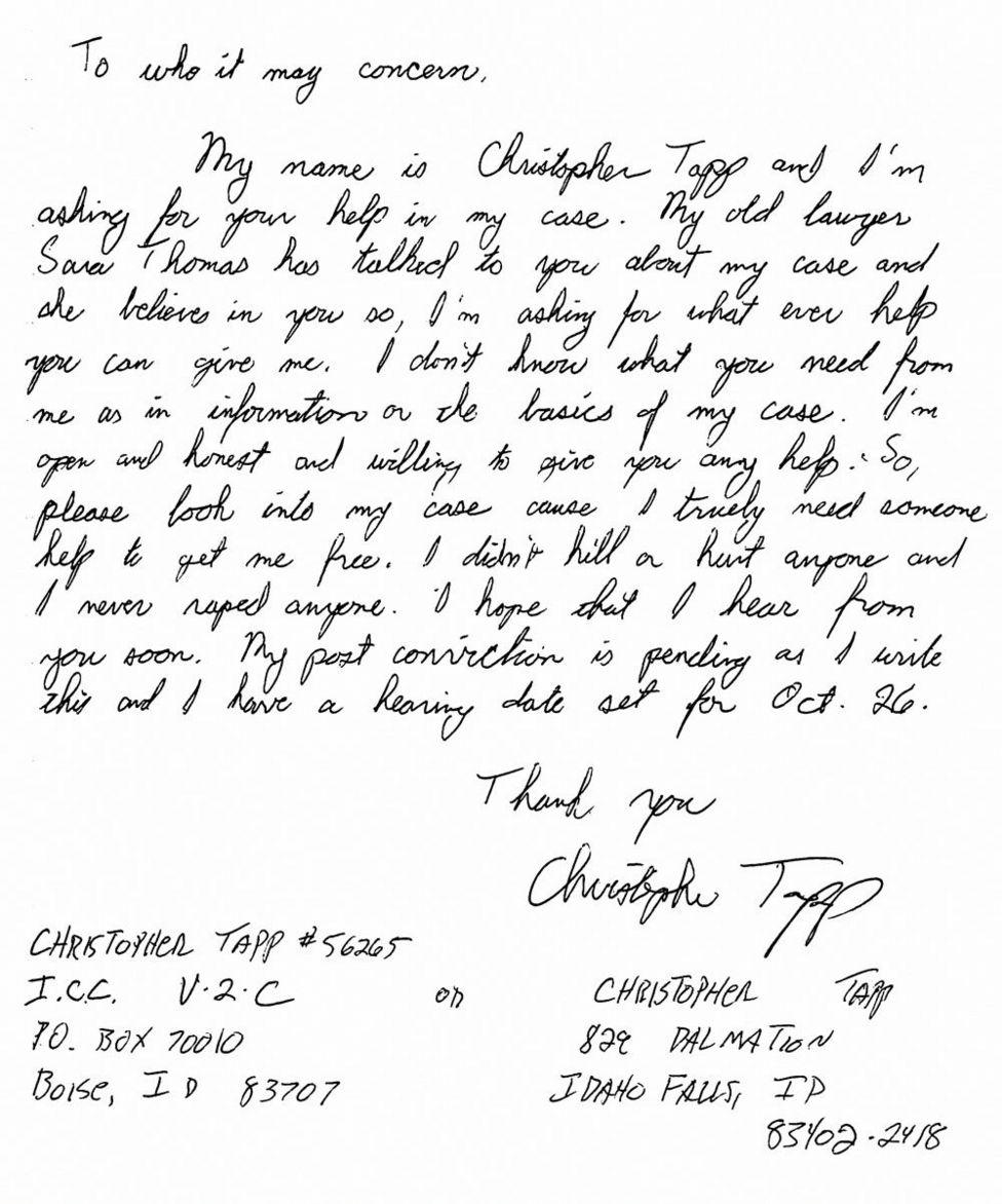 Carta de Tapp