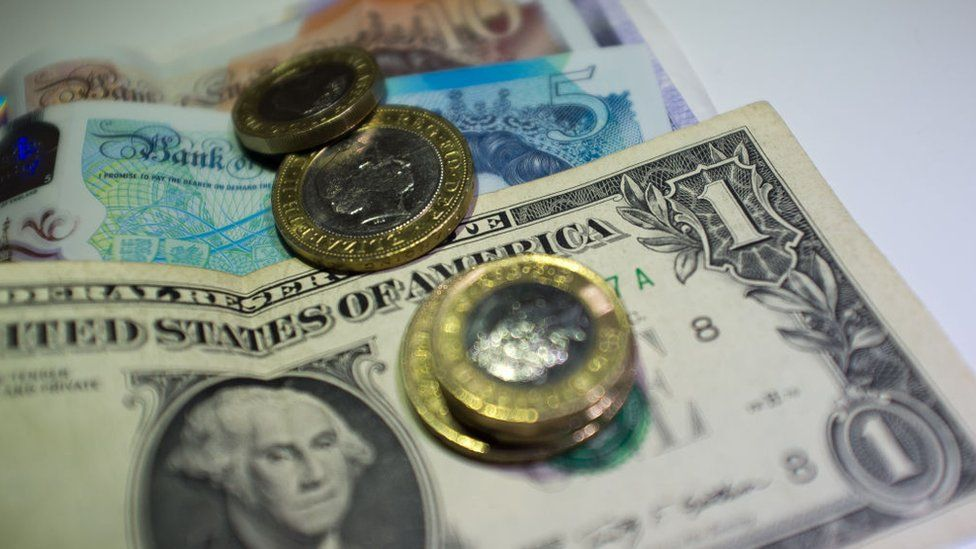 Pound sterling and US dollars
