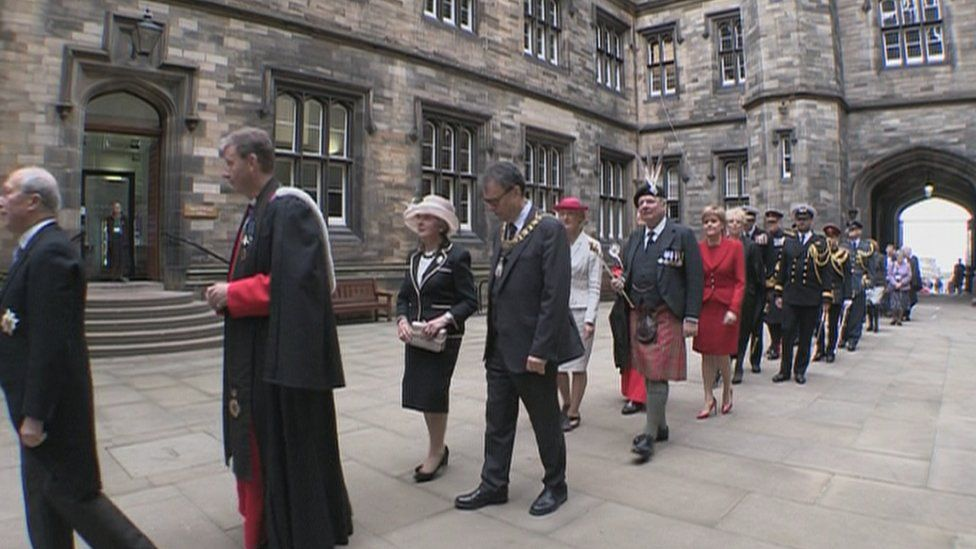 Nicola Sturgeon attending formal opening ceremony