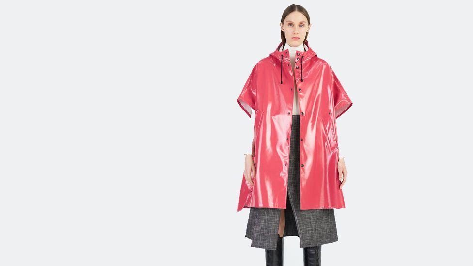 A model wearing a woman's jacket