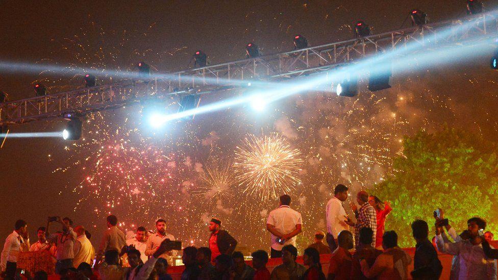 Fireworks during Diwali