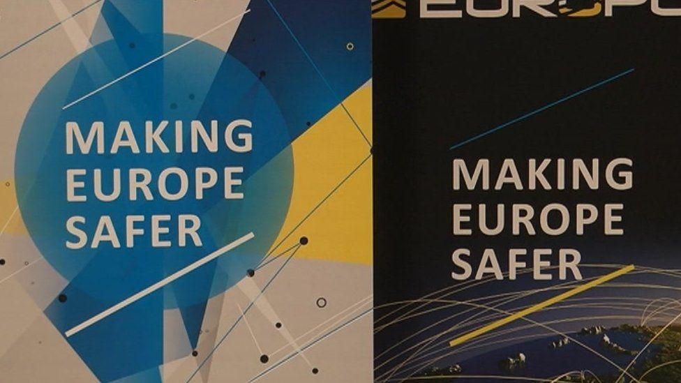 Europol sign 'Making Europe Safer'