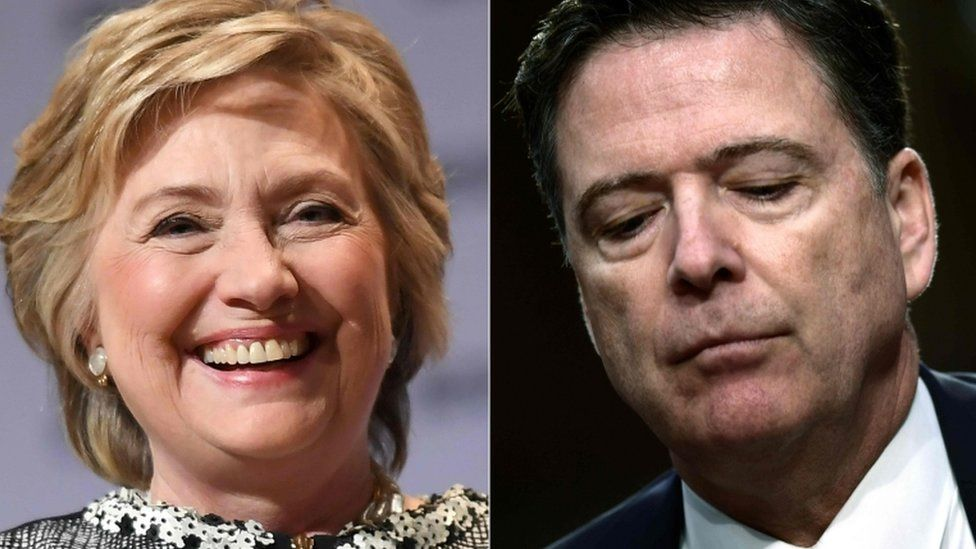 Hillary Clinton and former FBI director James Comey