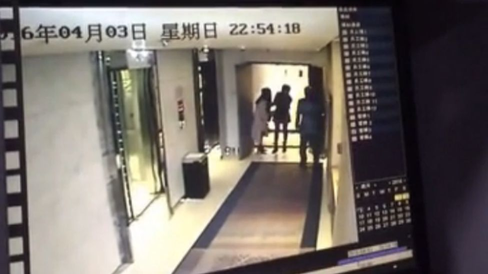 Screengrab of video uploaded to Youku by user Wanwan_2016 that appears to show a woman being assaulted in a Beijing hotel