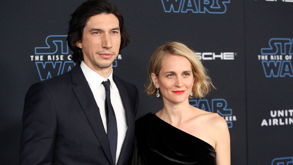 Adam Driver and wife Joanne Tucker at the premiere of Star Wars: The Rise of Skywalker