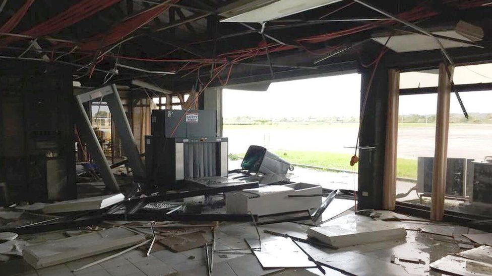 Tuguegarao airport is damaged