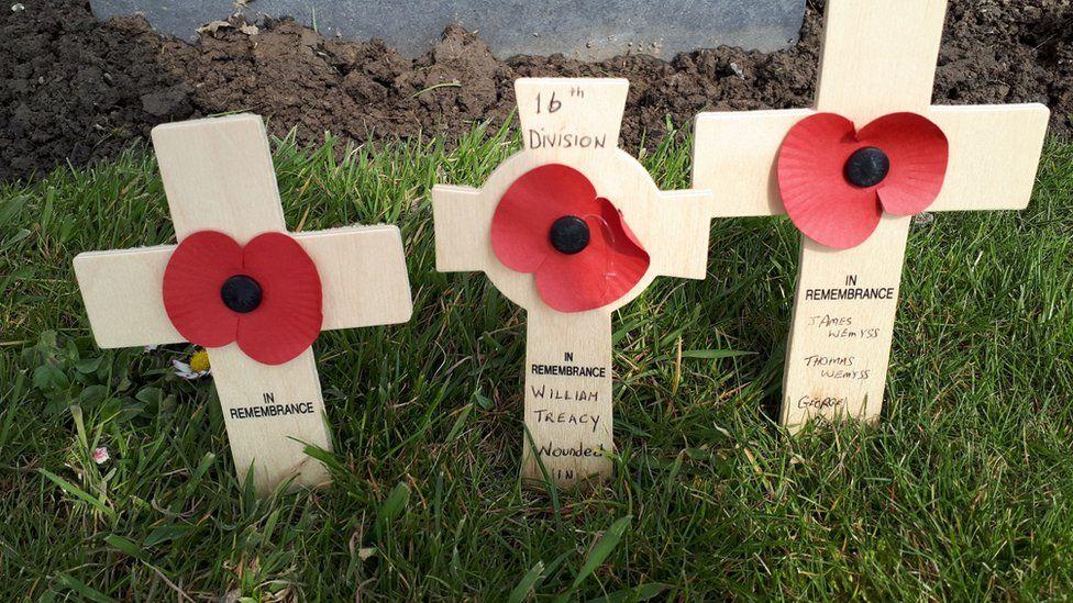 Poppy crosses at the Peace Park