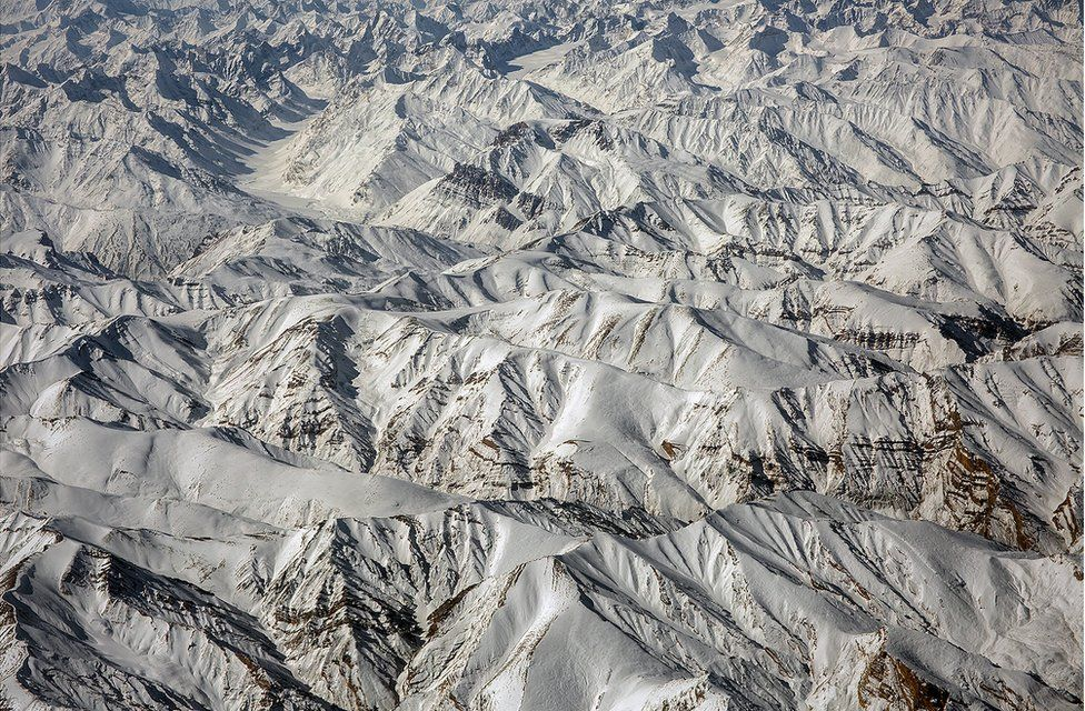 A view of mountains in the Ladakh Range