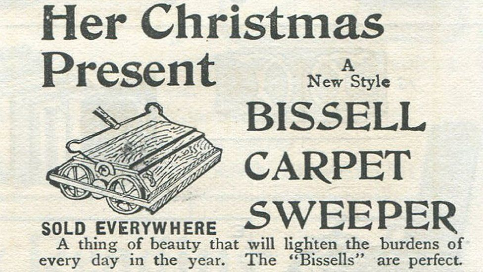Advert for a carpet-sweeper