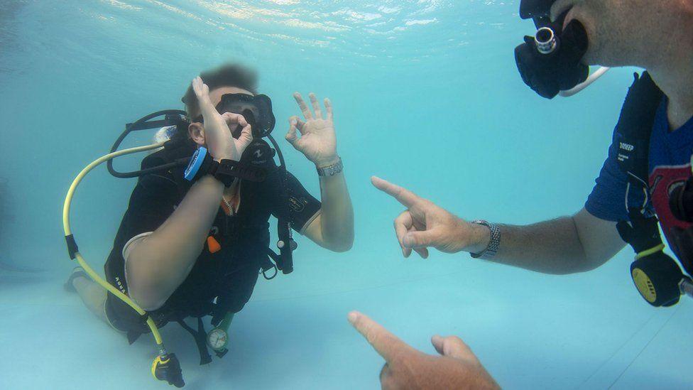 Ben Baker diving