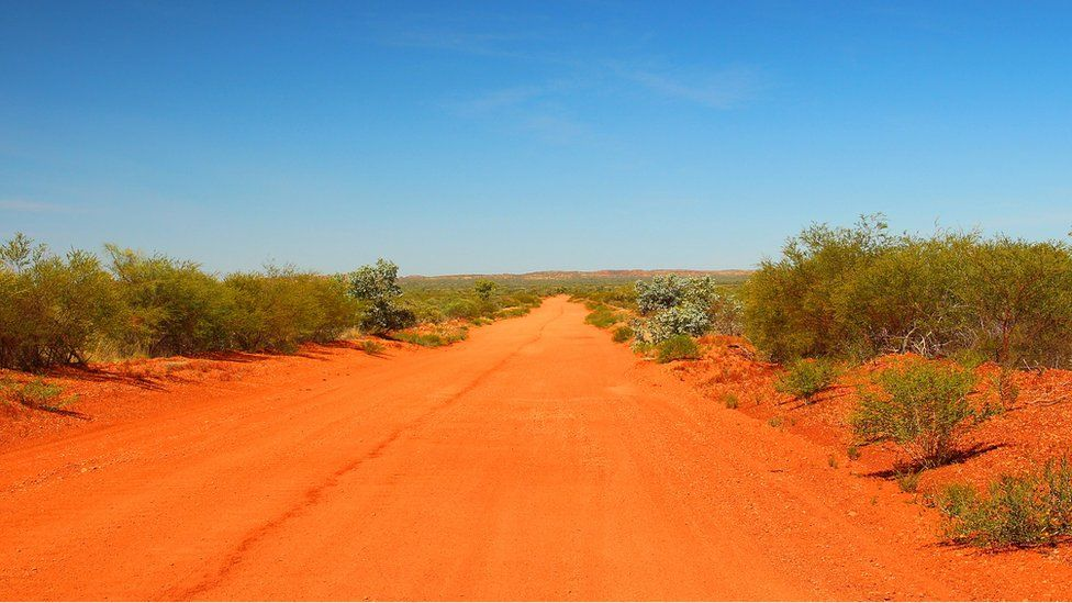A remote dirt road in the Northern Territory