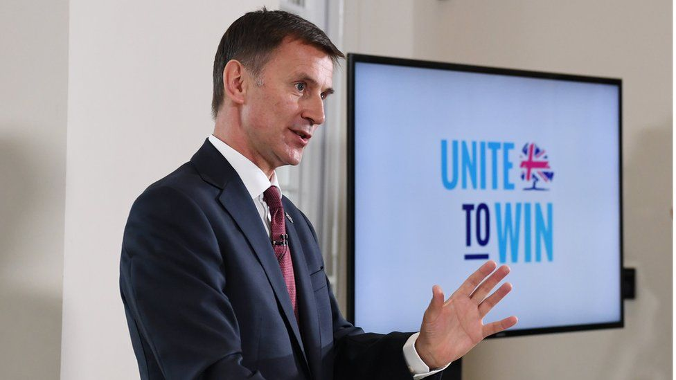 Jeremy Hunt at his campaign launch