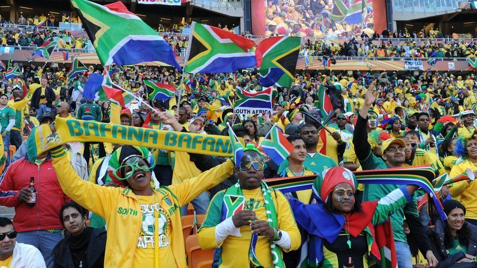 Fans at World Cup 2010 in South Africa