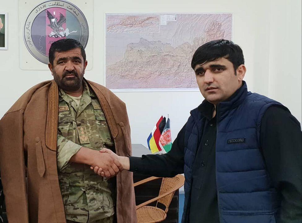 Abdullah Gard with his son Farid Ahmad Gard