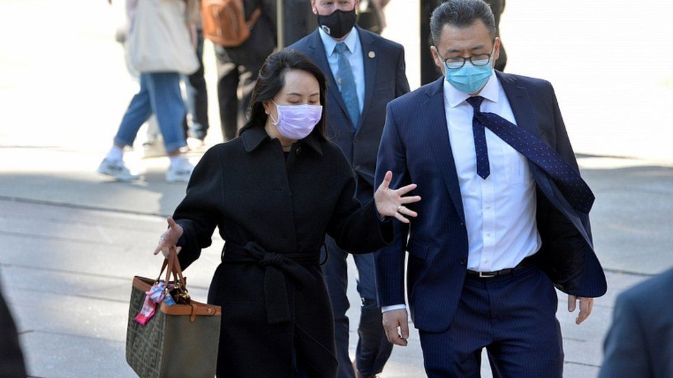 Huawei Technologies Chief Financial Officer Meng Wanzhou arrives at court following a lunch break in Vancouver, British Columbia, Canada March 15, 2021