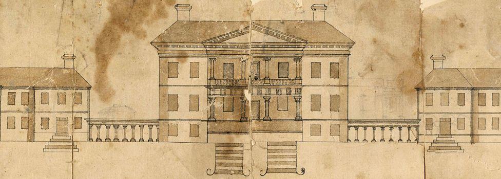 Design for Drayton Hall, South Carolina, USA - circa 1740