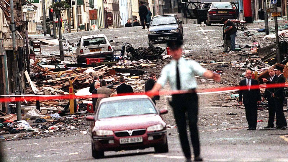 Scene of the Omagh bombing, 1998