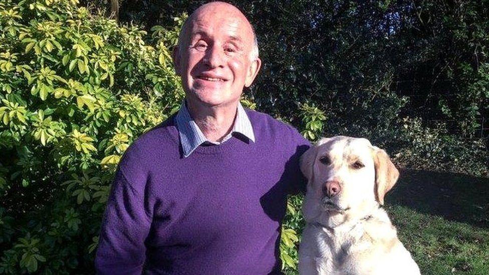 Jeff Bashton & his guide dog, Kylie